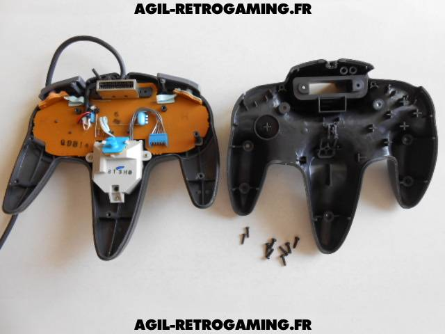 Pad N64 ouvert